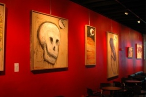 Art work at the Creekside Lounge of the artist J. Haley